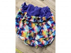 Softshellová zateplovací kapsa malá - duhová s fialovou, VeKa nosítka