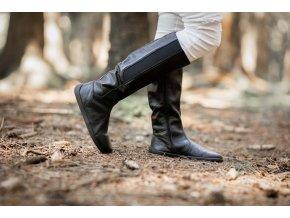 Barefoot kozačky Be Lenka Sierra – Black, Be Lenka