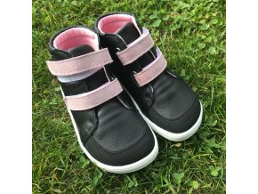 Baby Bare Shoes Febo Fall Black/Pink (ASFALTICO)