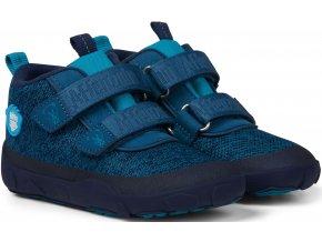 Affenzahn Minimal Lowboot Knit Bear - Blue Sappore