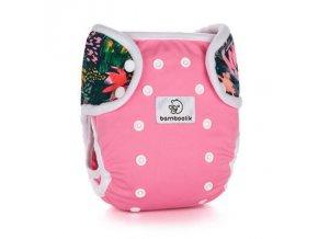 Svrchní kalhotky PAT Duo - Růžová + Květy, Bamboolik