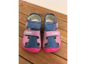 Kožené sandále - růžovo modré, Fare bare