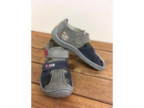 Kožené sandále - modro šedé, Fare bare