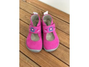 Kožené barefoot balerínky -  růžovo šedé, Fare bare