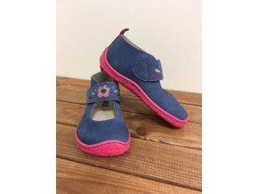Kožené barefoot balerínky - modro růžová, Fare bare