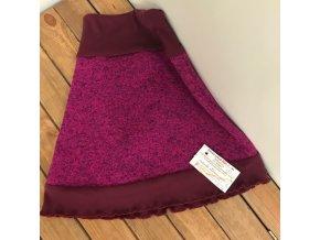 Dětská sukně 4-8 let (zimní) - fialovorůžová, Petra Kalistia Lammas