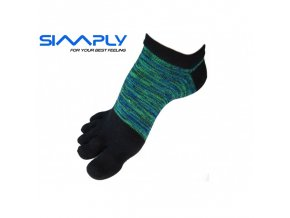 anatomicke prstove ponozky simply melirove nizke zelene
