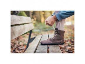 barefoot kotnikove boty be lenka winter chocolate be lenka