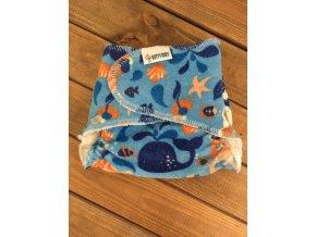 Chobotová plena - mořská panna na modré - velikost 1 (3-8 kg), KatyvBaby