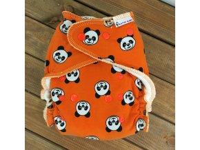 Kalhotková plena - patentky - pandy oranžové, KatyvBaby