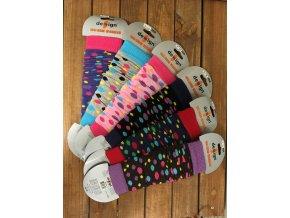 Dětské návleky puntíky - mix barev, Design Socks