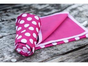 Přebalovací podložka větší 70x70 cm - puntík na růžové, Katka Černá