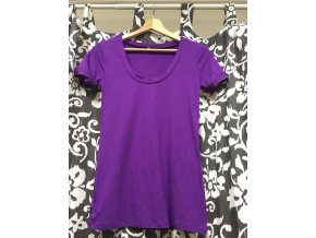 Bambusové tričko s krátkým rukávem - fialové, Duomamas