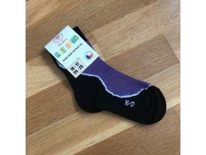 Ponožky Surtex LÉTO dětské (50%) - fialová, Surtex