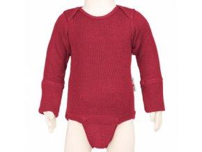 Body / tričko merino Raspberry red, Manymonths