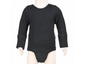 Body / tričko merino Foggy Black, Manymonths