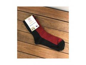Ponožky Surtex 80% merino/15% bavlny - červená