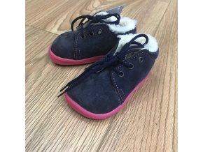 Zimní kožené boty s kožíškem a membránou na tkaničku - Elisha, Boty Beda