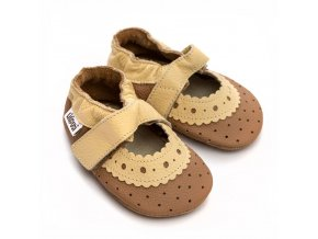 liliputi soft baby sandals almond 4897