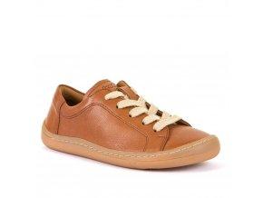 Barefoot nízké tenisky na tkaničku BROWN, Froddo