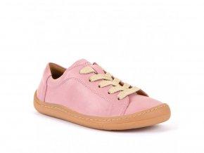 Barefoot nízké tenisky na tkaničku PINK, Froddo