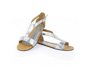 Barefoot sandále CLIQ Silver, ZAQQ