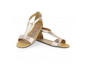 Barefoot sandále CLIQ Gold, ZAQQ