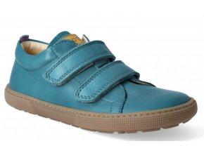 Barefoot tenisky - Bernardo nappa turquoise, KOEL4kids