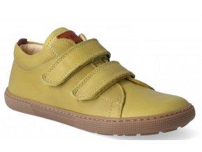 Barefoot tenisky - Bernardo nappa mustard, KOEL4kids