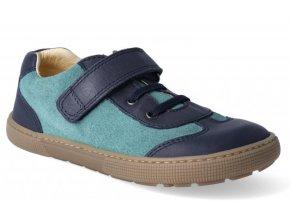 Barefoot tenisky - Bernardo laces blue/aqua, KOEL4kids