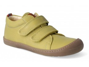 Barefoot tenisky KOEL4kids - Bernardinho nappa mustard, KOEL4kids