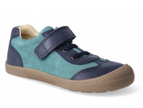 Barefoot tenisky - Bernardinho laces blue/aqua, KOEL4kids