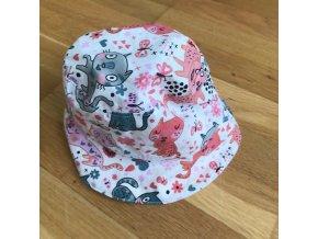 Bavlněný klobouček - kočičky, Katka Černá