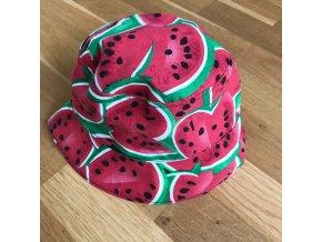 Bavlněný klobouček - melounek, Katka Černá