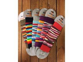 Dětské návleky proužky - mix barev, Design Socks