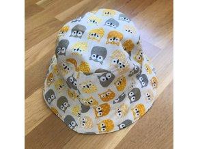 Bavlněný klobouček - sovičky, Katka Černá
