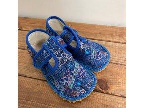 Bačkůrky zúžené (SLIM) - modré nápisy/blue signs, Boty Beda