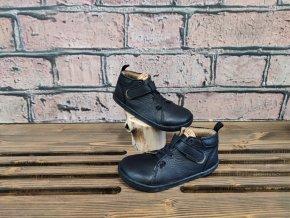 Kožené barefoot boty BF52 - černá, Pegres