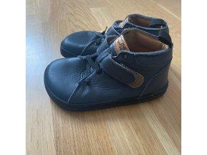 Kožené barefoot boty BF52 - modrá, Pegres