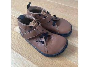 Kožené barefoot boty BF52 - hnědá, Pegres