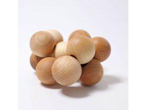 Korálková dřevěná hračka do ruky – přírodní, Grimms