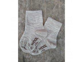 merino kojenecke ponozky vlnka
