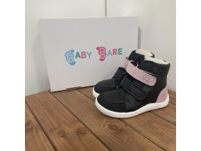 Baby Bare Shoes - Febo Winter Sparkle Black Asfaltico