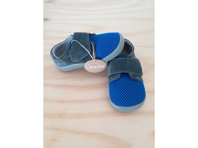 BEDA barefoot TOM BF 0001/SK/1W síťovina s kůží