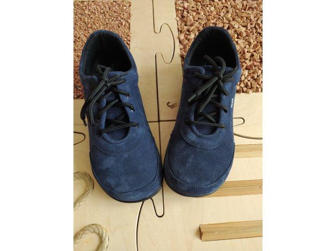 BEDA barefoot BF0002/KK kožené boty DEEP BLUE