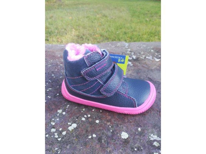 Protetika KABI navy - dívčí zimní obuv