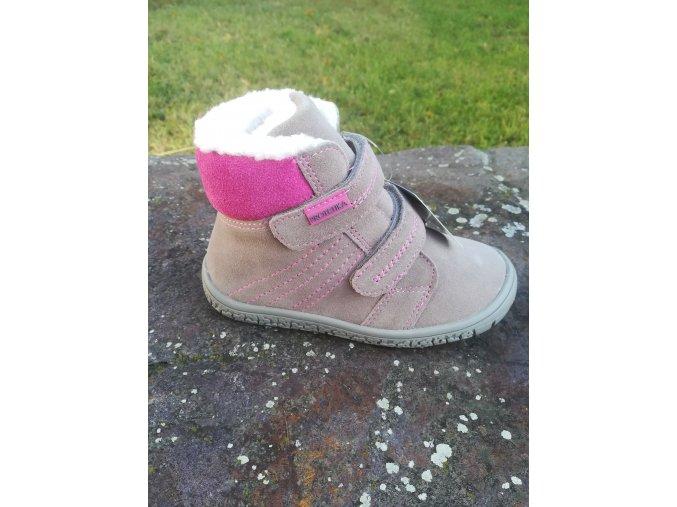 Protetika ARTIK grey - dívčí zimní obuv