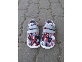 BEDA barefoot textilní tenisky - comics