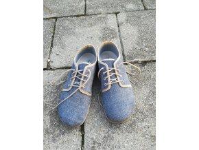 Beda barefoot kožené s membránou - denim