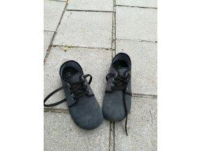 Beda barefoot kožené s membránou - dark grey